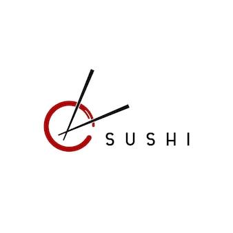 Sushi logo design template