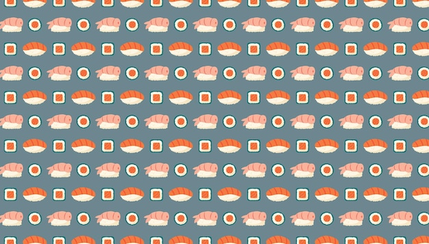 鮭魚ご飯と海苔の巻き寿司アジアンフードデリバリーパターンテクスチャー
