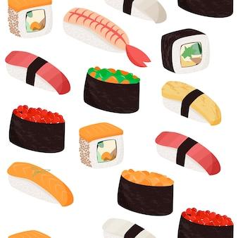 Sushi pattern.