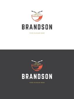 Иллюстрация шаблона логотипа суши-ресторана