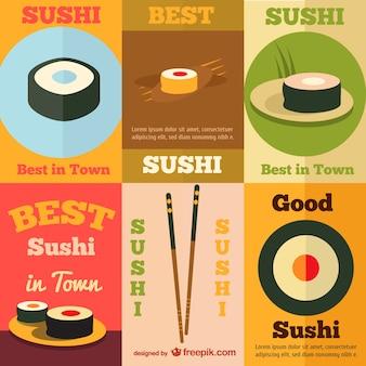 Суши ретро плаката