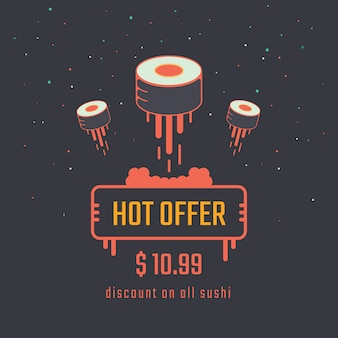 Sushi roll sale banner