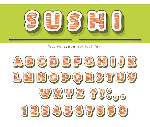 Sushi rolls font.