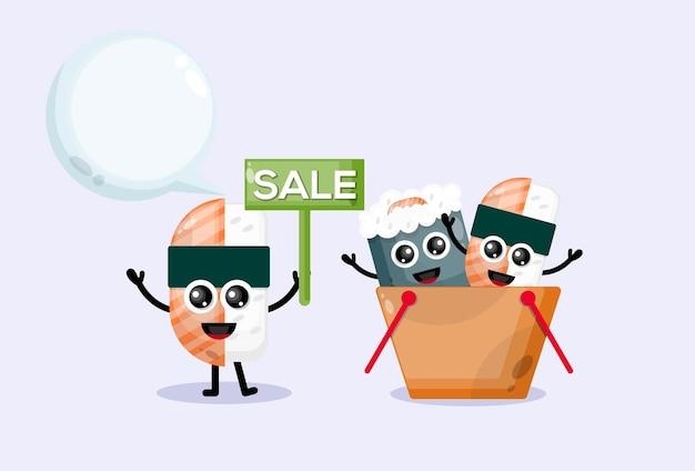 초밥 판매 마스코트