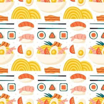 초밥 연어 밥 새우 김 라면 롤 계란 베이컨 계란 레몬 그라스 아시아 음식 배달
