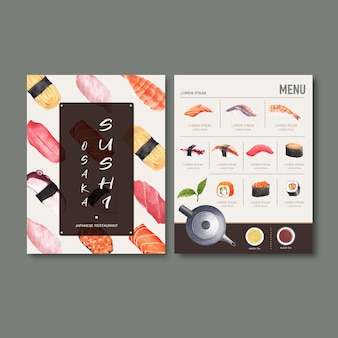 Суши комплексное меню для ресторана.