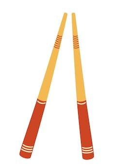 Sushi sticks. wooden chopsticks. asian chopsticks