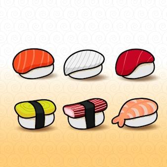 Sushi tasty japanese food