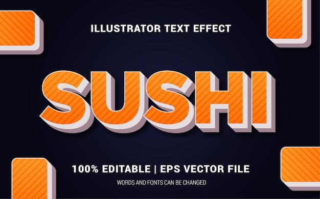 Стиль эффектов суши-текста