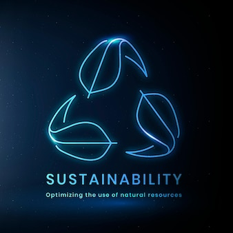 Sustainability environmental logo vector with text