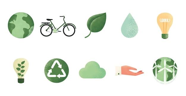 지속 가능한 보존 에너지 세계 생태