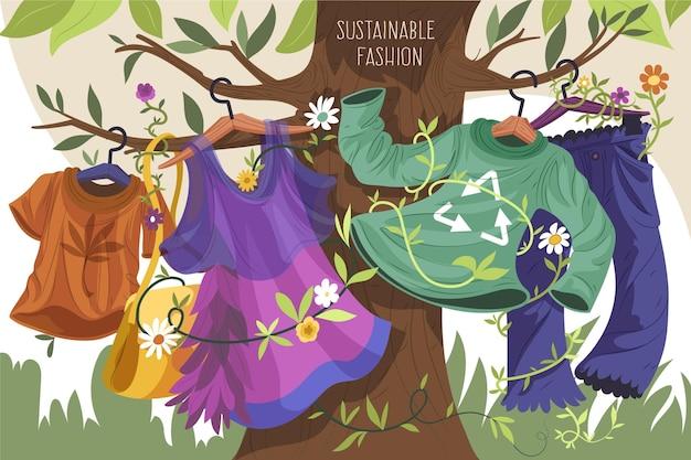 Vestiti riciclati di concetto di moda sostenibile