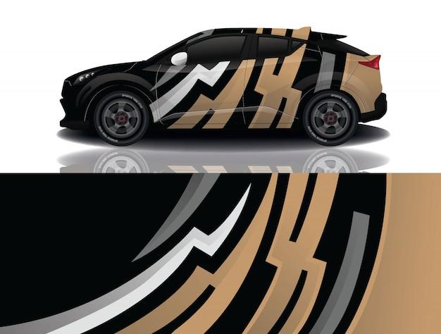 Suv car decal wrap design vector
