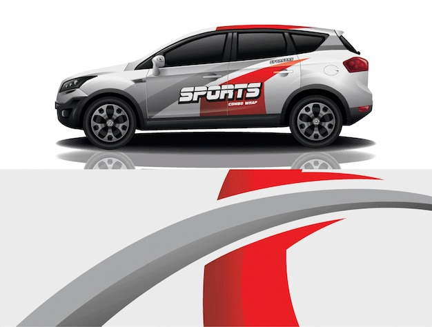 Suv car decal wrap design