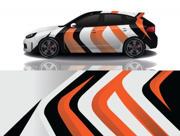 Suv car decal wrap illustration