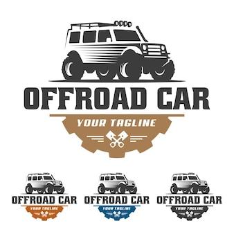 Логотип внедорожника, логотип внедорожника, шаблон логотипа автомобиля suv, внедорожник