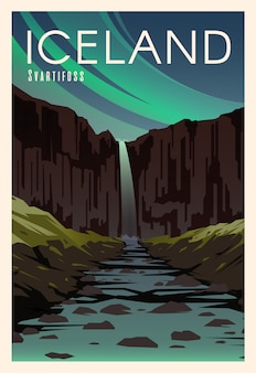 Svartifoss, river. time to travel. around the world. quality  poster. national park skaftafell.
