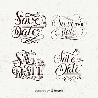 Sve the date vintage lettering collection