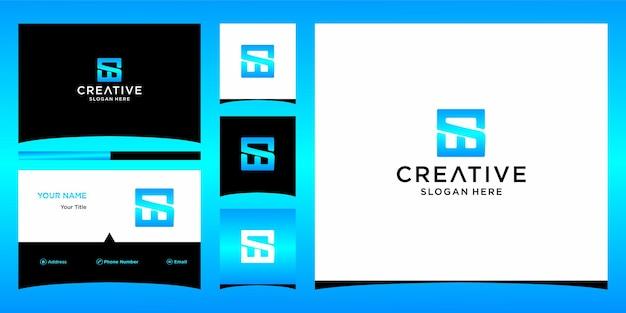 Bussinesカードテンプレートとswのロゴ