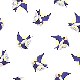 Swallow bird pattern