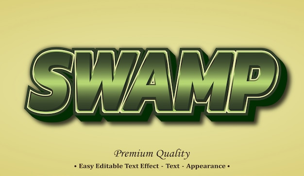 Swamp  font style effect