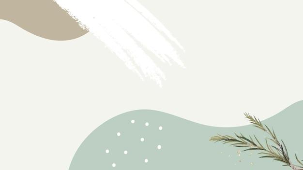 緑の最小限のパターン化された背景に紙の樹皮の枝を沼