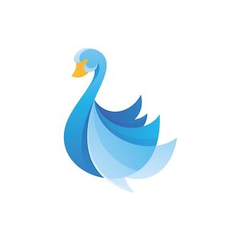 Swan goose wing logo icon