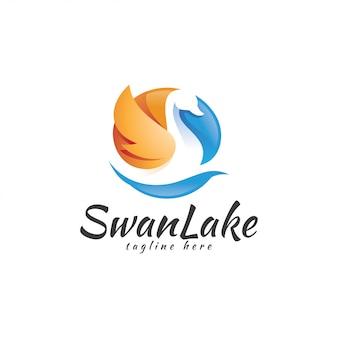 Swan goose wing logo