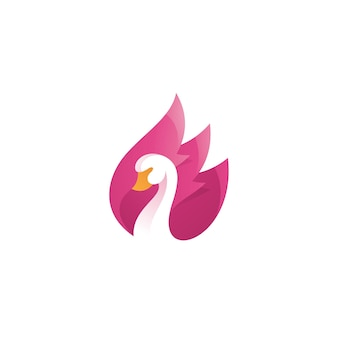 Логотип крыла лебедя гуся