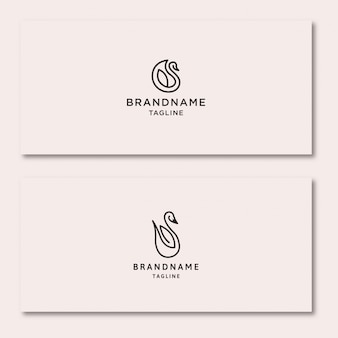 Swan logo  in card