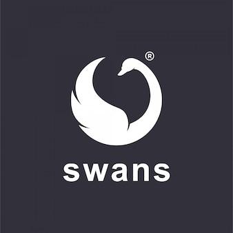 Логотип лебедя