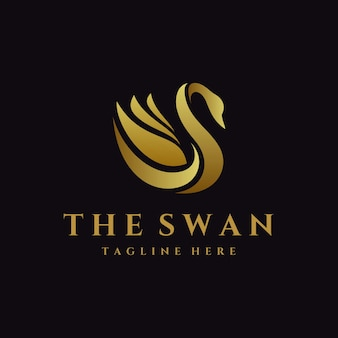Swan luxury   logo template