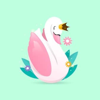 白鳥姫と葉の花