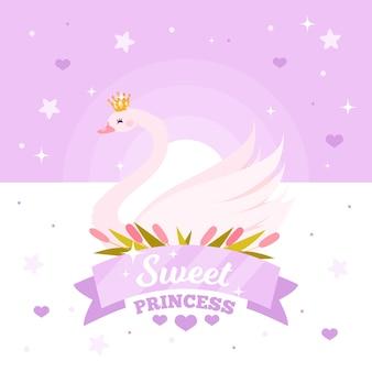Concetto di principessa del cigno