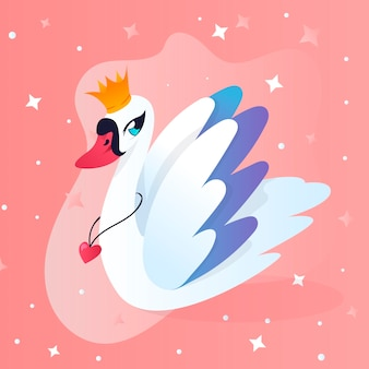 Swan princess concept