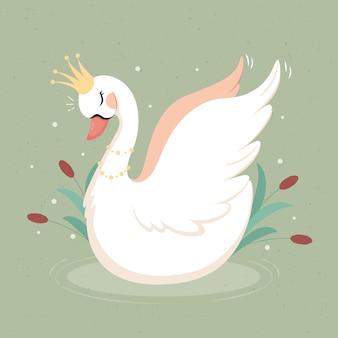 Принцесса-лебедь элегантного дизайна