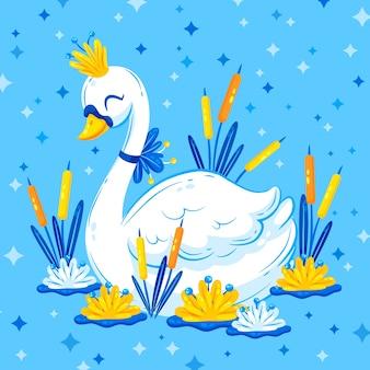 Принцесса-лебедь иллюстрировала концепцию