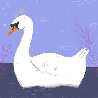 Swan princess illustrated