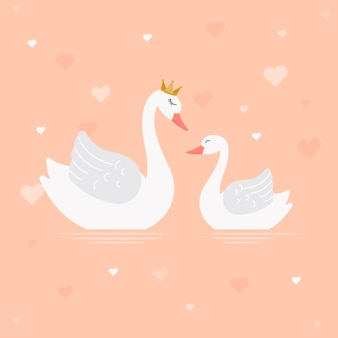 Swan princess illustration design