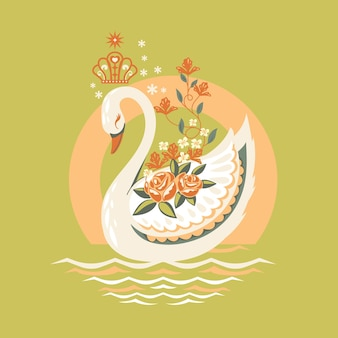 Swan princess illustration