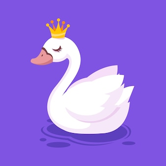 Swan princess with crown