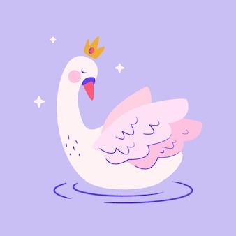 Swan princess with crown