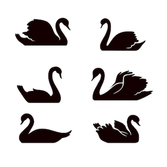 Swan silhouette collection