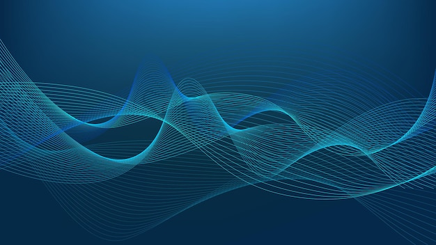 Swaying wavy lines abstract wave background blue