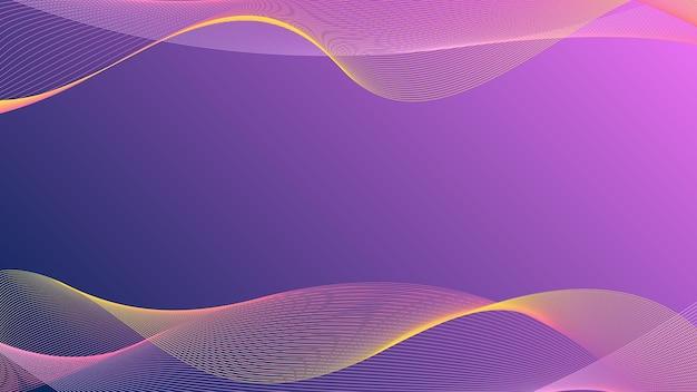 揺れる波線抽象的な波の背景黄色の縞模様のピンクと青