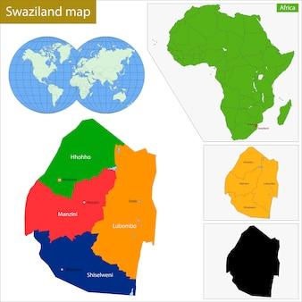 Карта свазиленда