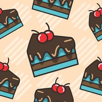 汗のチョコレートケーキシームレスパターン
