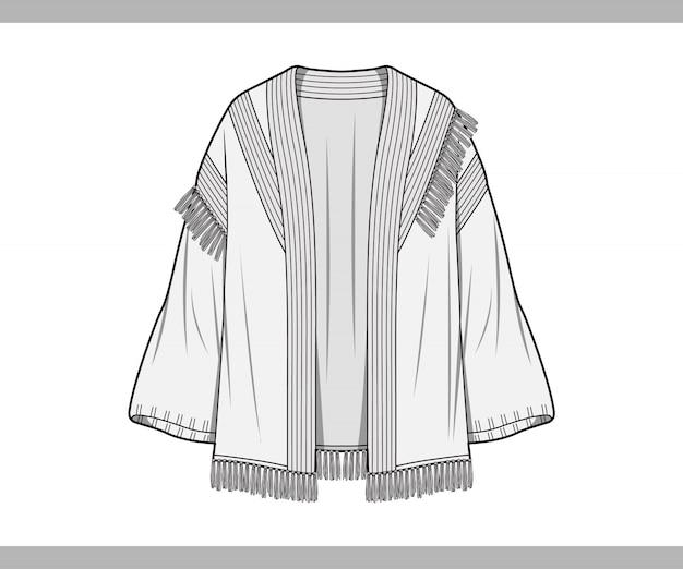 Sweater cardigan top