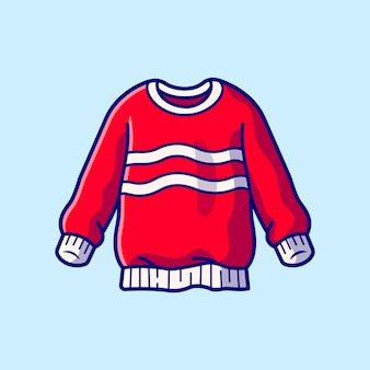 Sweater cartoon  icon illustration. fashion object icon concept isolated  . flat cartoon style