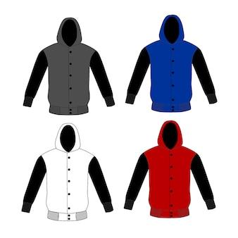 Sweater hoodie template